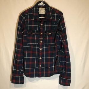Men's Medium Abercrombie Long-Sleeve Button up